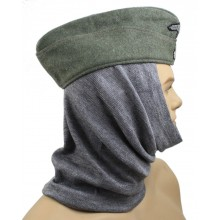 Toque balaclava pipe-scarf gray