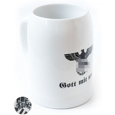 Beer mug 600 ml with the 3rd Reich eagle
