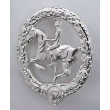 German horseman's badge in silver