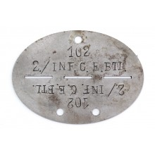 Filled steel dog-tag ID disk (many variants)