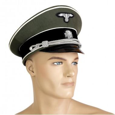 SS infantry officer peaked-cap bullion insignia
