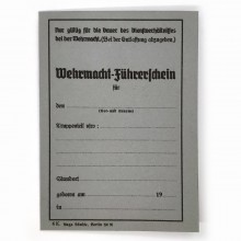Driving license Germany 1930-40s