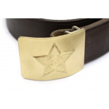 USSR army belt with golden buckle V-day