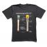 T-shirt gray — grenade M24 print