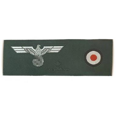 Heer side-cap insignia eagle + cockade 1937 Heer