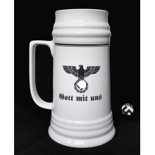 High beer mug with the 3rd Reich eagle