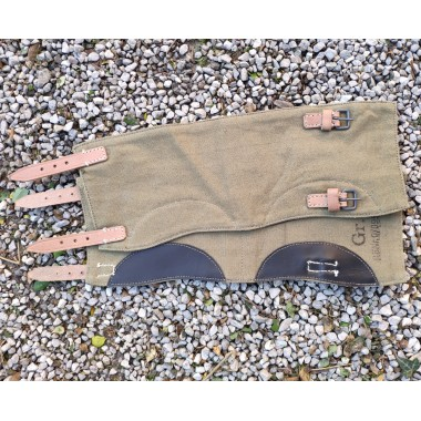 Gaiters variant 2 late, brown leather
