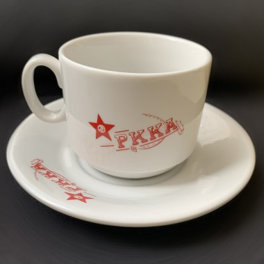 Tea pair: mug & saucer RKKA